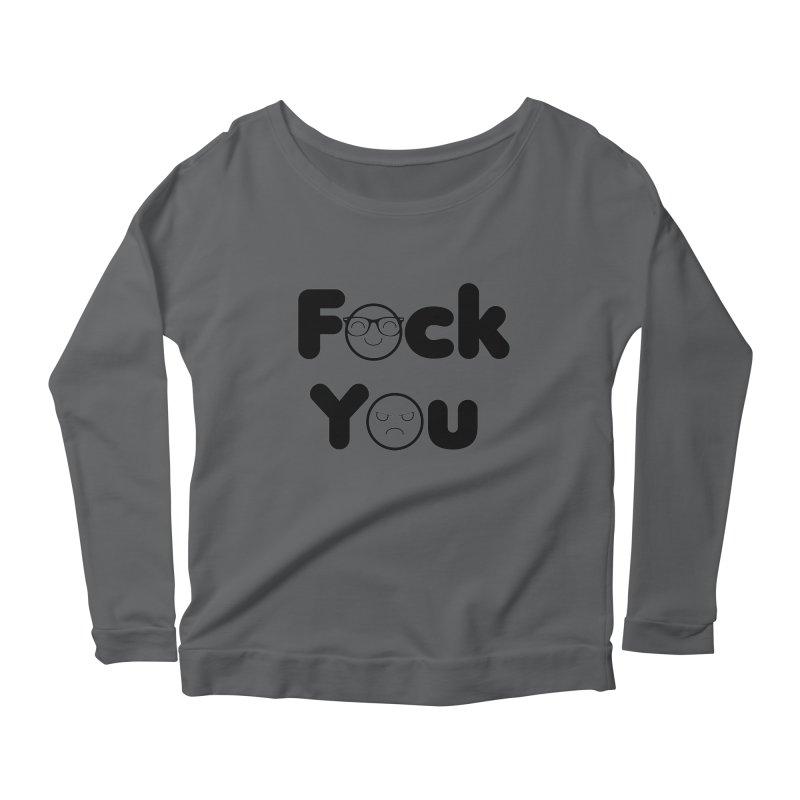 F what? Women's Longsleeve Scoopneck  by TerrificPain's Artist Shop