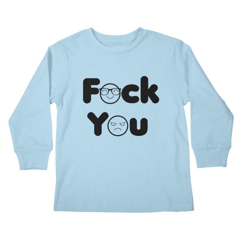 F what? Kids Longsleeve T-Shirt by TerrificPain's Artist Shop by SaulTP
