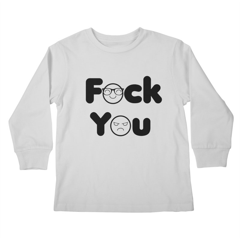 F what? Kids Longsleeve T-Shirt by TerrificPain's Artist Shop