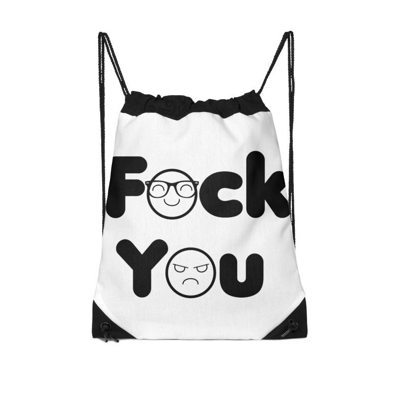 F what? Accessories Drawstring Bag Bag by TerrificPain's Artist Shop by SaulTP