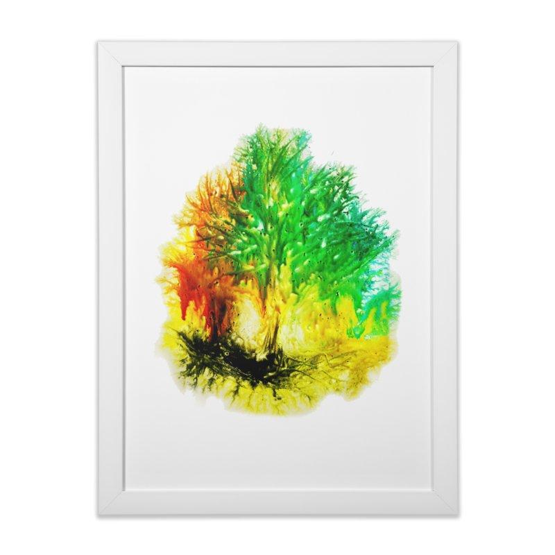 Fire burns in Framed Fine Art Print White by TerrificPain's Artist Shop