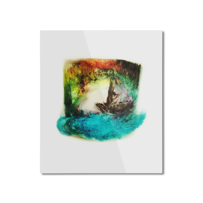 Lost ship Home Mounted Aluminum Print by TerrificPain's Artist Shop by SaulTP