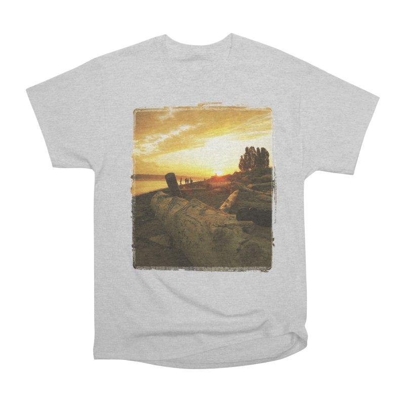 Discovery Sunset Seattle Men's Heavyweight T-Shirt by terryann's Artist Shop