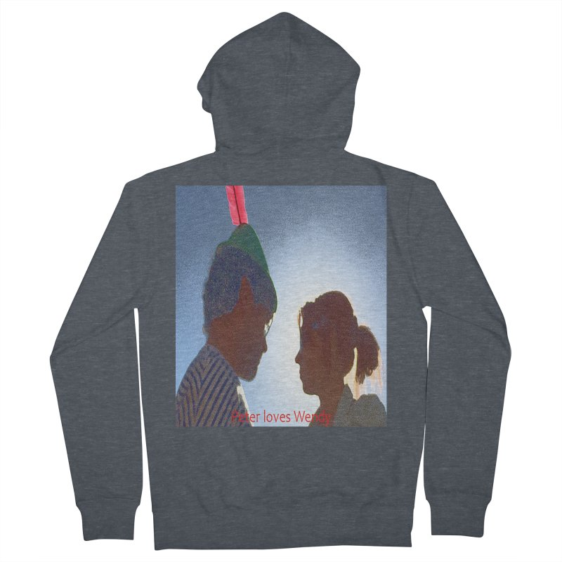 Peter Loves Wendy! <3 Men's Zip-Up Hoody by terryann's Artist Shop
