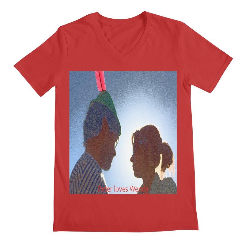 Peter Loves Wendy! <3 Men's V-Neck by terryann's Artist Shop