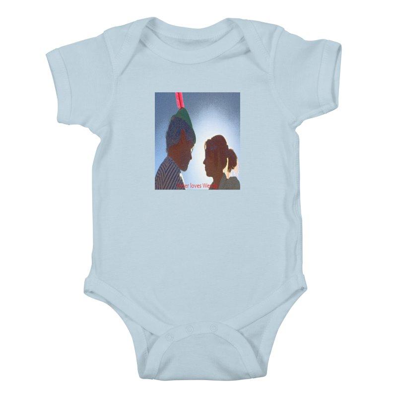 Peter Loves Wendy! <3 Kids Baby Bodysuit by terryann's Artist Shop
