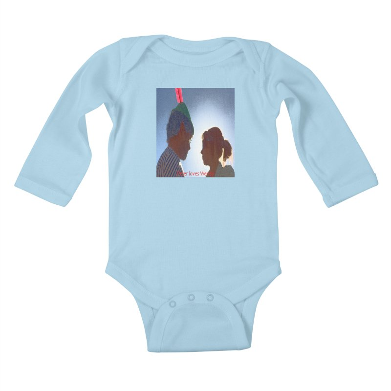 Peter Loves Wendy! <3 Kids Baby Longsleeve Bodysuit by terryann's Artist Shop