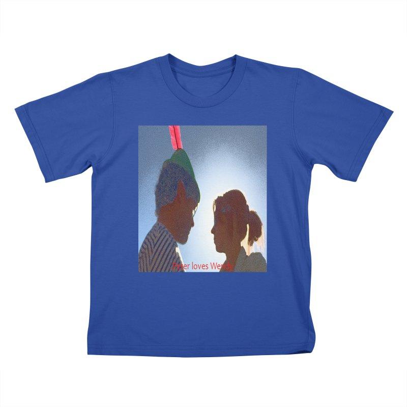 Peter Loves Wendy! <3 Kids T-Shirt by terryann's Artist Shop