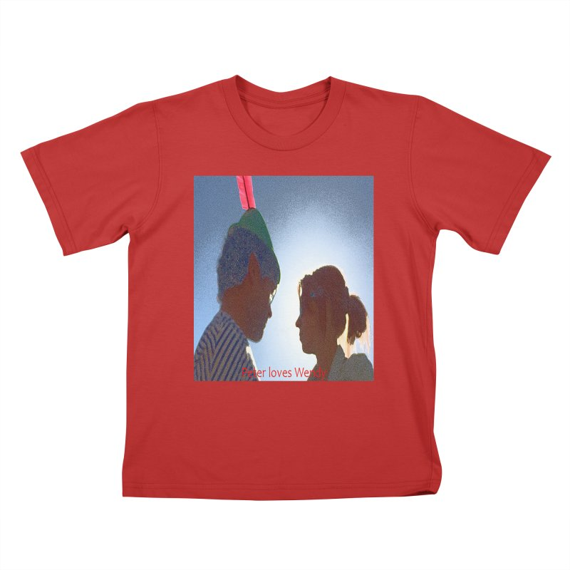 Peter Loves Wendy! <3 Kids T-Shirt by terryann's Artist Shop