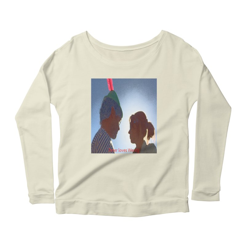Peter Loves Wendy! <3 Women's Longsleeve Scoopneck  by terryann's Artist Shop