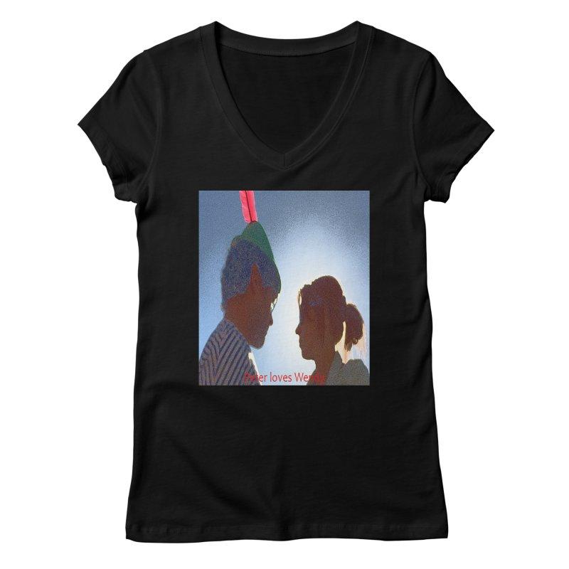 Peter Loves Wendy! <3 Women's V-Neck by terryann's Artist Shop