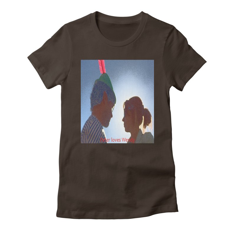 Peter Loves Wendy! <3 Women's Fitted T-Shirt by terryann's Artist Shop