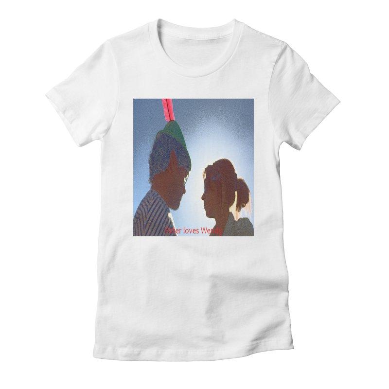 Peter Loves Wendy! <3 Women's Fitted T-Shirt by terryann's Artist Shop