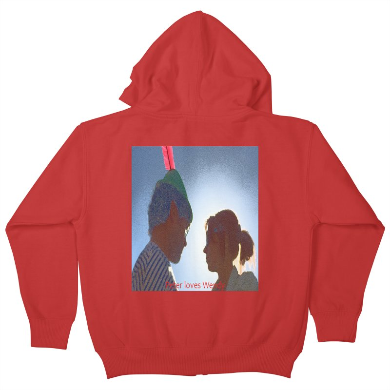 Peter Loves Wendy! <3 Kids Zip-Up Hoody by terryann's Artist Shop
