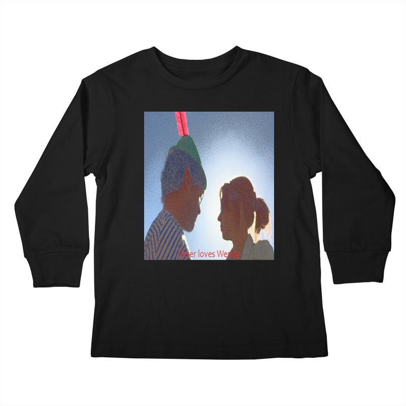 Peter Loves Wendy! <3 Kids Longsleeve T-Shirt by terryann's Artist Shop