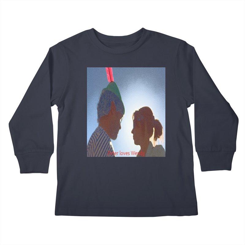 Peter Loves Wendy! <3 Kids Longsleeve T-Shirt by terryann's Artist Shop