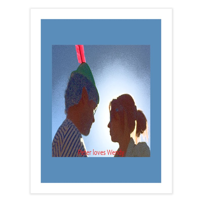 Peter Loves Wendy! <3 Home Fine Art Print by terryann's Artist Shop