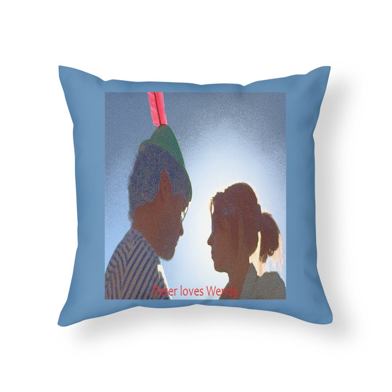 Peter Loves Wendy! <3 Home Throw Pillow by terryann's Artist Shop
