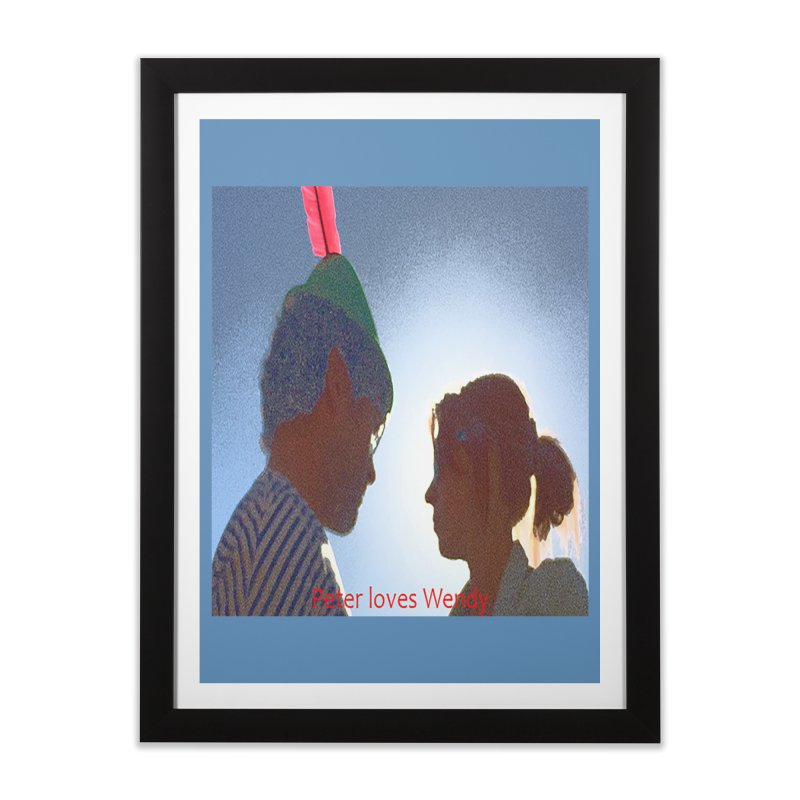Peter Loves Wendy! <3 Home Framed Fine Art Print by terryann's Artist Shop