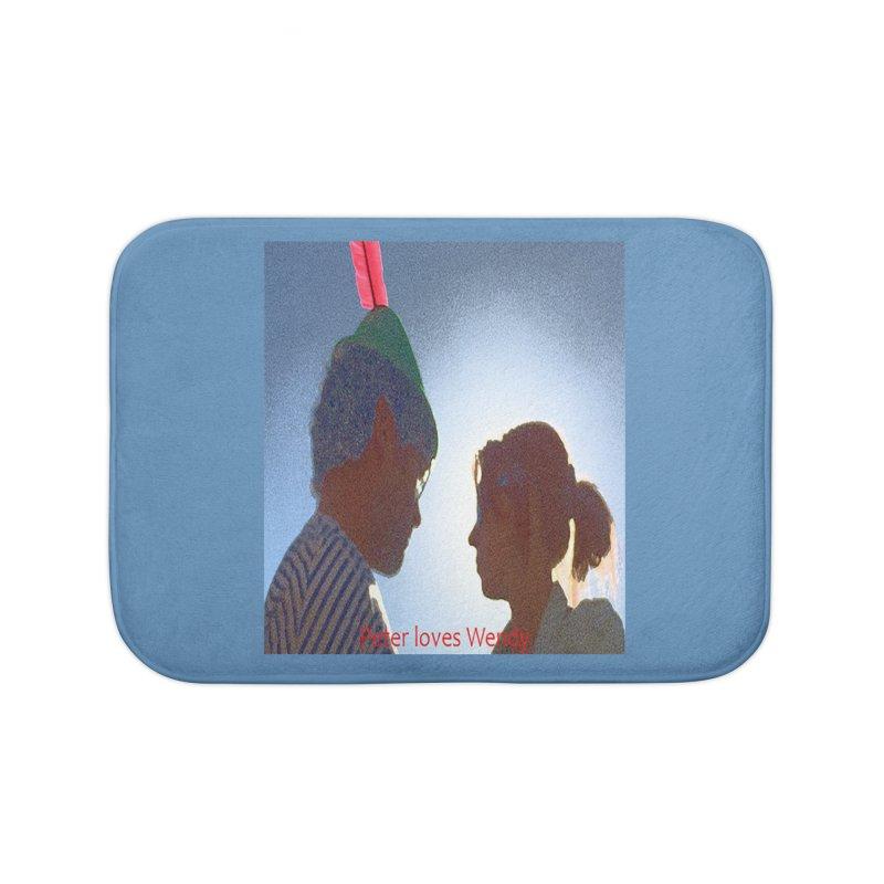 Peter Loves Wendy! <3 Home Bath Mat by terryann's Artist Shop