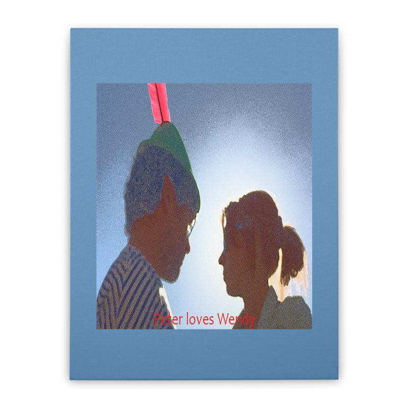 Peter Loves Wendy! <3 Home Stretched Canvas by terryann's Artist Shop
