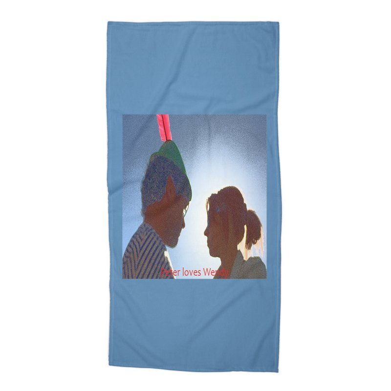 Peter Loves Wendy! <3 Accessories Beach Towel by terryann's Artist Shop