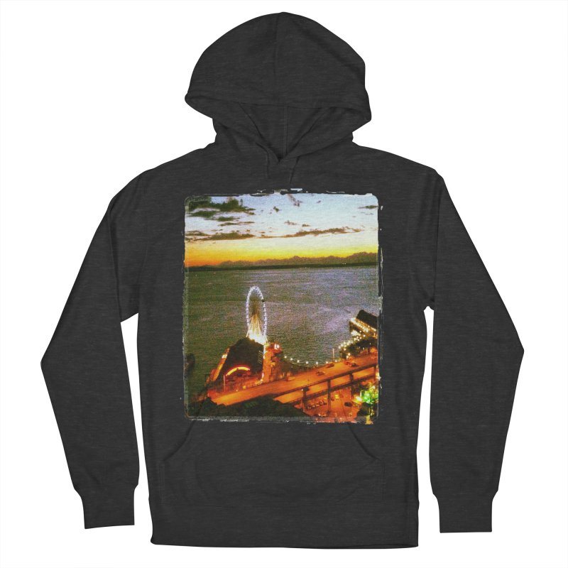 Seattle Great Wheel Sunset Women's Pullover Hoody by terryann's Artist Shop