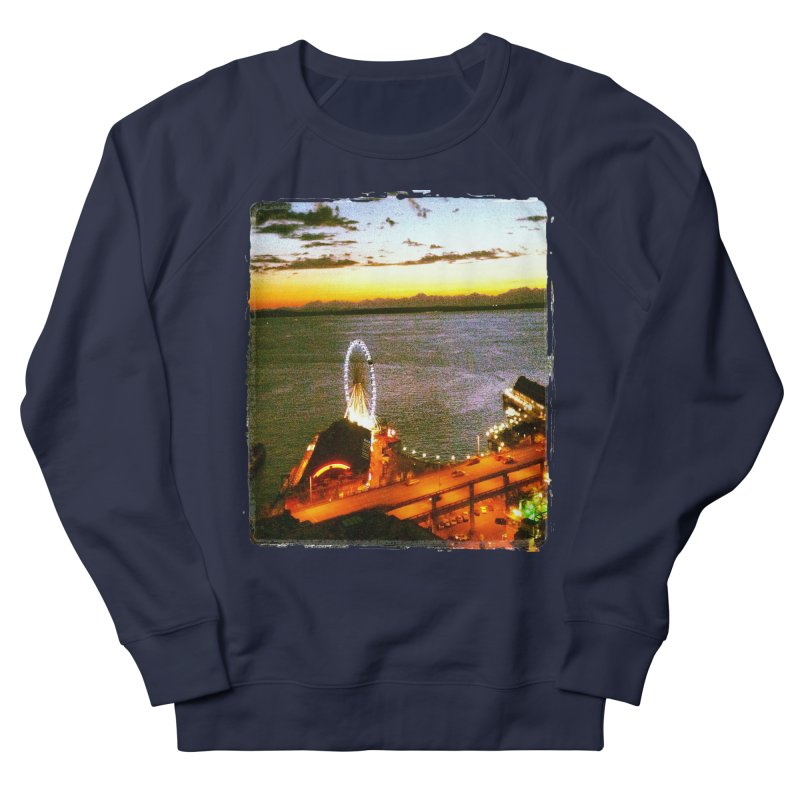 Seattle Great Wheel Sunset Women's Sweatshirt by terryann's Artist Shop