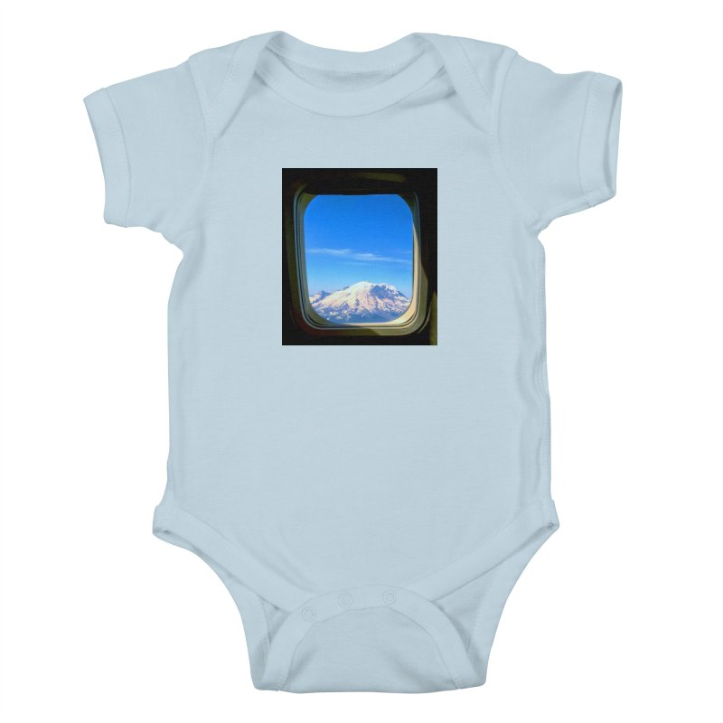 Flying over Rainer Kids Baby Bodysuit by terryann's Artist Shop