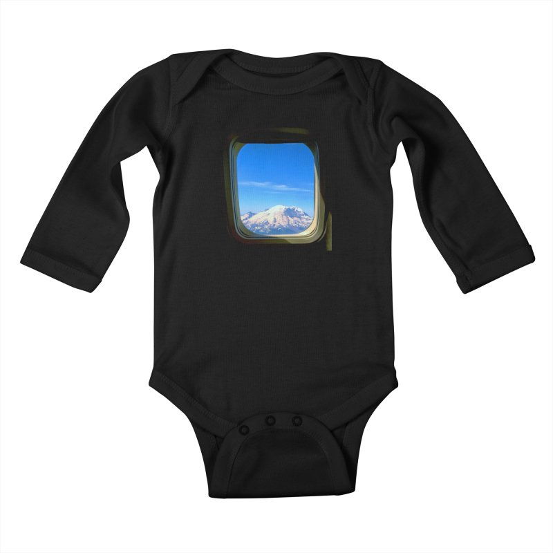 Flying over Rainer Kids Baby Longsleeve Bodysuit by terryann's Artist Shop