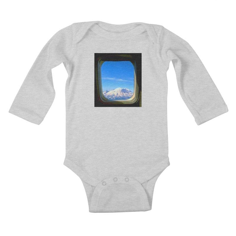 Flying over Rainer Kids Baby Longsleeve Bodysuit by terryann's Artist Shop