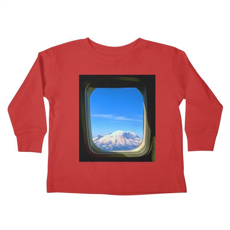 Flying over Rainer Kids Toddler Longsleeve T-Shirt by terryann's Artist Shop