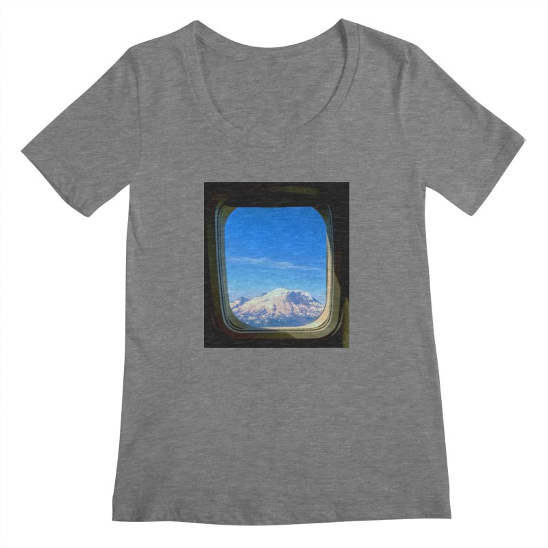 Flying over Rainer Women's Scoopneck by terryann's Artist Shop