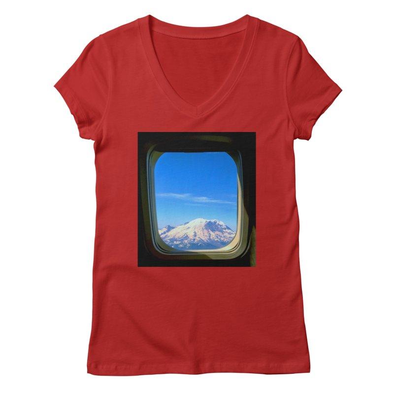 Flying over Rainer Women's V-Neck by terryann's Artist Shop