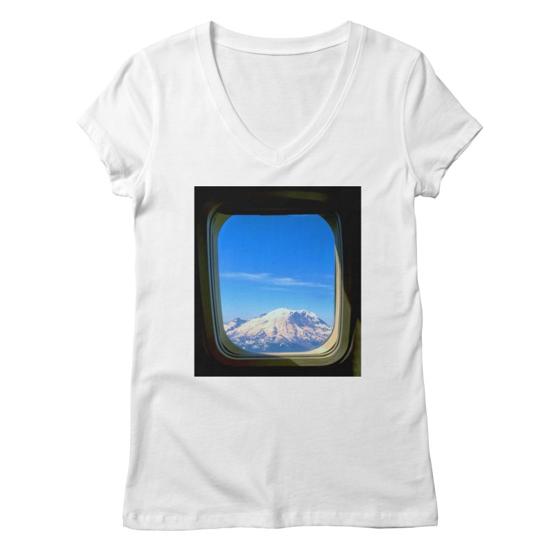 Flying over Rainer Women's V-Neck by terryann's Artist Shop