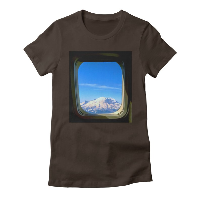Flying over Rainer Women's Fitted T-Shirt by terryann's Artist Shop