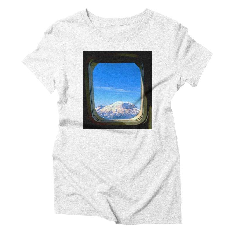 Flying over Rainer Women's Triblend T-shirt by terryann's Artist Shop