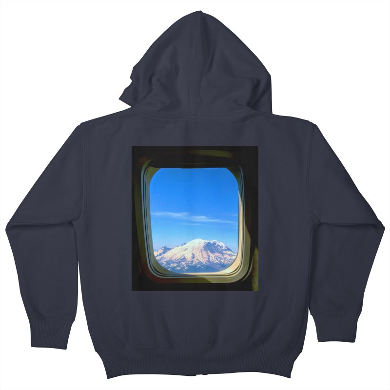 Flying over Rainer Kids Zip-Up Hoody by terryann's Artist Shop