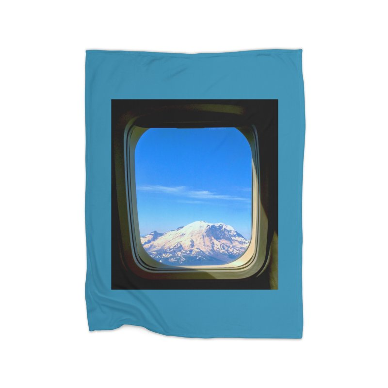 Flying over Rainer Home Fleece Blanket by terryann's Artist Shop