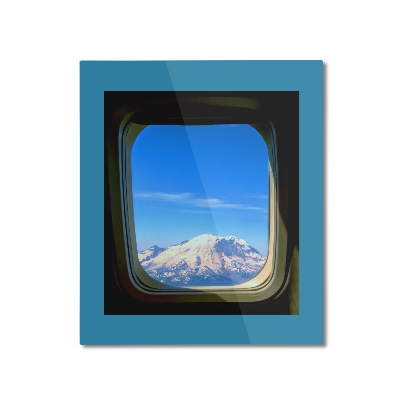 Flying over Rainer Home Mounted Aluminum Print by terryann's Artist Shop