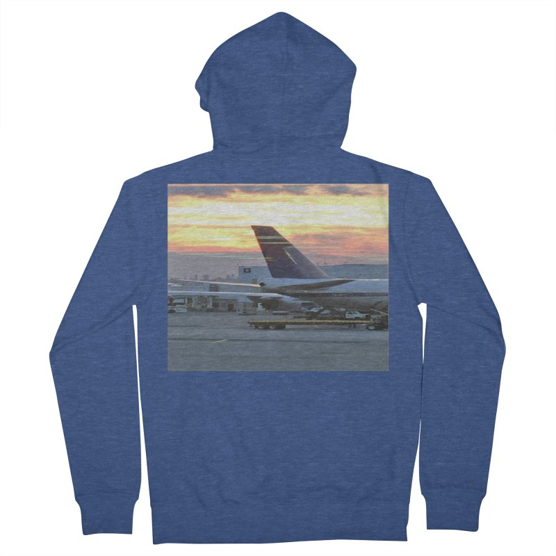 Fly with Me Men's Zip-Up Hoody by terryann's Artist Shop