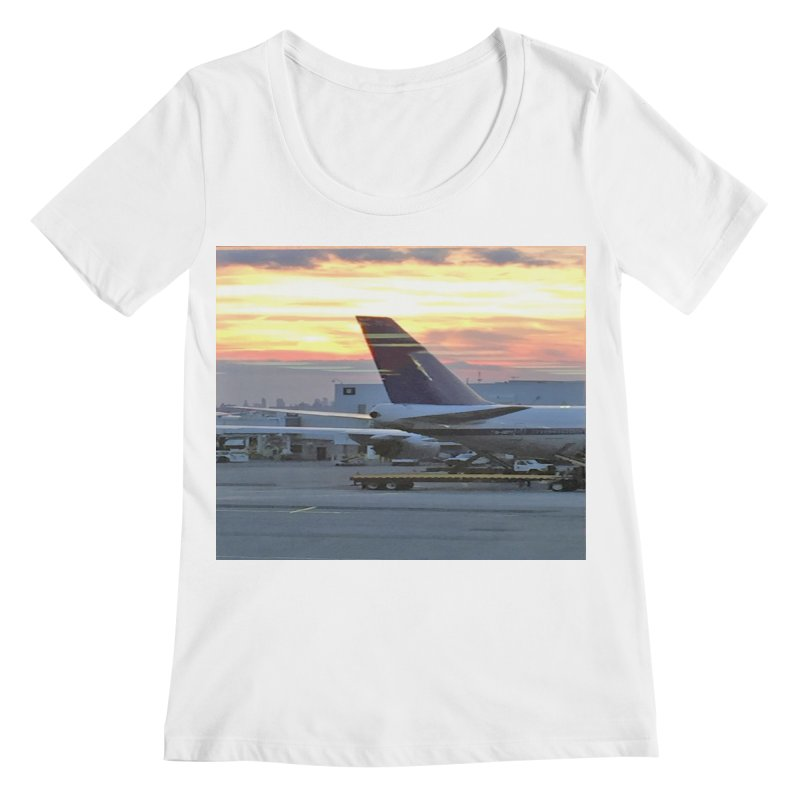 Fly with Me Women's Scoopneck by terryann's Artist Shop