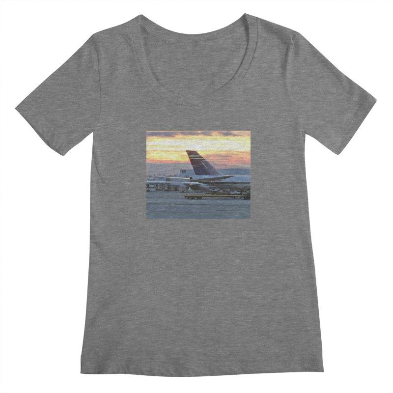 Fly with Me Women's Scoopneck by terryann's Artist Shop