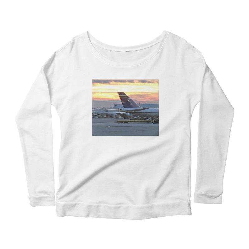 Fly with Me Women's Longsleeve Scoopneck  by terryann's Artist Shop