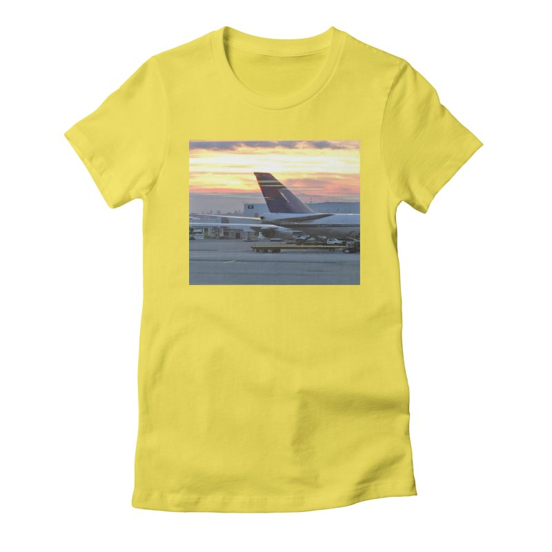 Fly with Me Women's Fitted T-Shirt by terryann's Artist Shop