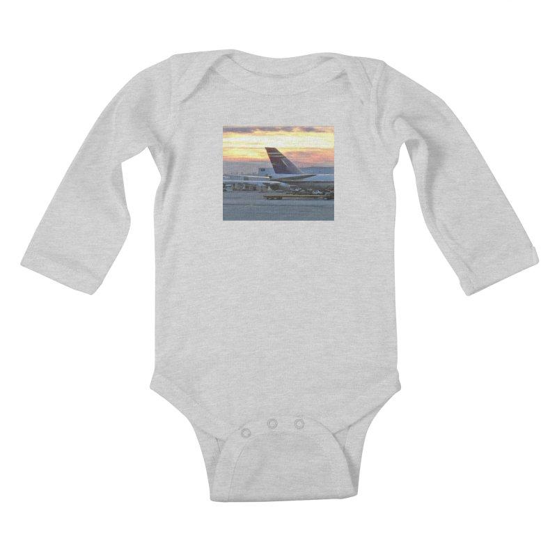 Fly with Me Kids Baby Longsleeve Bodysuit by terryann's Artist Shop