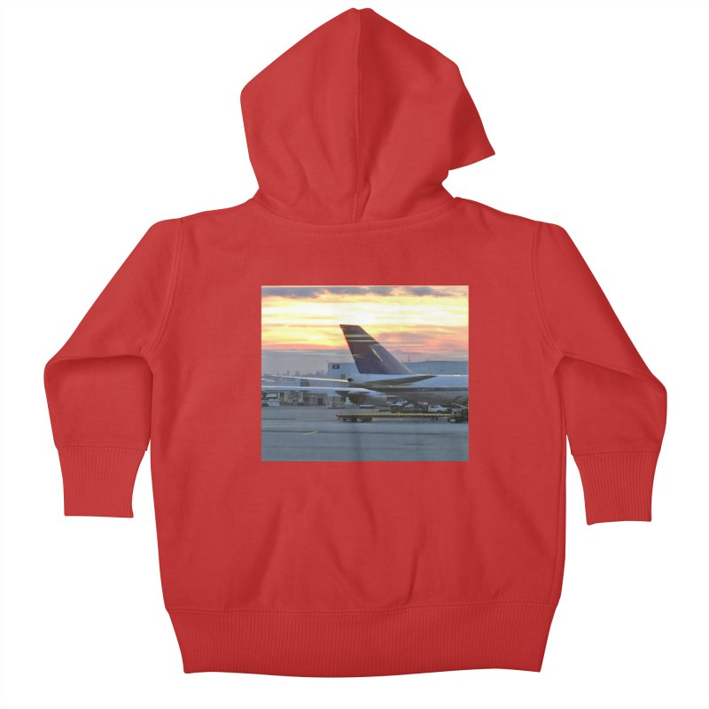 Fly with Me Kids Baby Zip-Up Hoody by terryann's Artist Shop