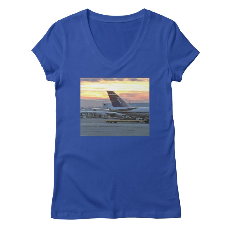 Fly with Me Women's V-Neck by terryann's Artist Shop