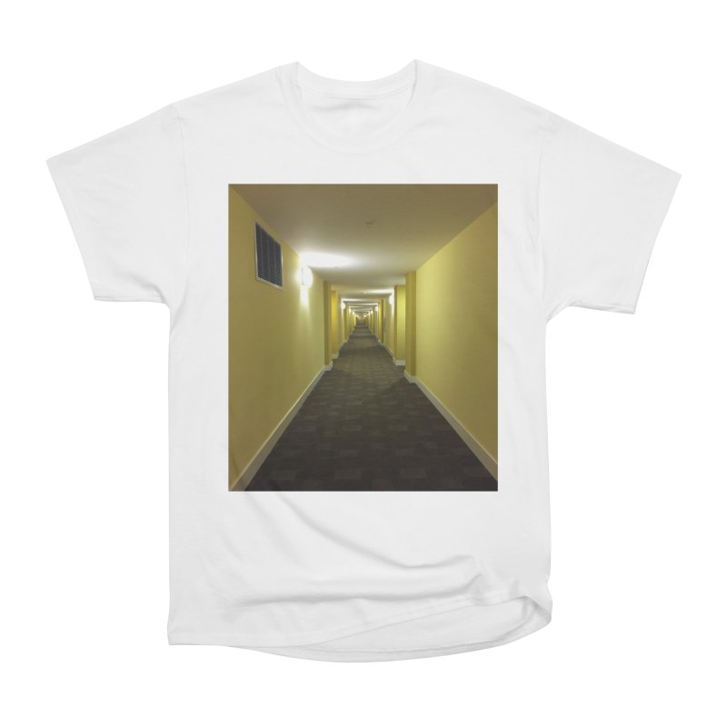 Hallway - What could happen? Men's Heavyweight T-Shirt by terryann's Artist Shop