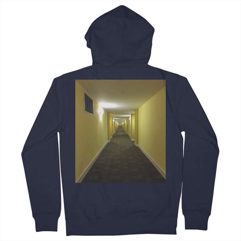 Hallway - What could happen? Men's Zip-Up Hoody by terryann's Artist Shop